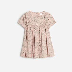 Reserved - Viskózové šaty s kvetinovou potlačou -