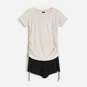 Reserved - Pyžamo s nápisom - Krémová