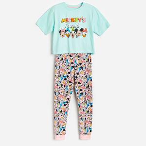 Reserved - Bavlnené pyžamo Disney - Tyrkysová