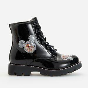 Reserved - Lakované členkové topánky Mickey Mouse - Čierna