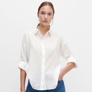 Reserved - Košeľa so štruktúrovaným vzorom - Krémová