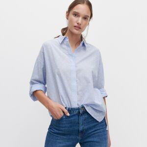 Reserved - Košeľa so štruktúrovaným vzorom - Modrá