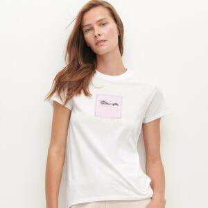 Reserved - Tričko s nášivkou - Biela