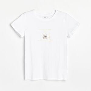Reserved - Bavlnená košeľa s potlačou - Biela