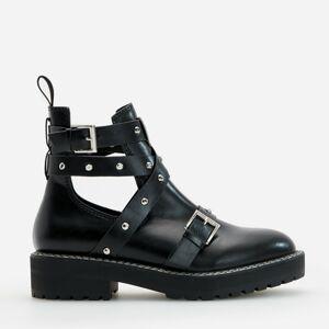 Reserved - Topánky s výrezmi - Čierna