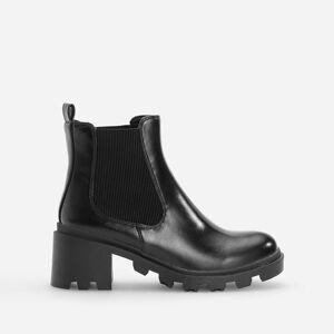Reserved - Členkové čižmy s hrubou podrážkou - Čierna