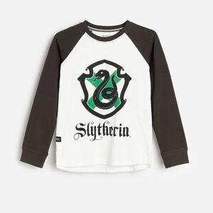 Reserved - Bavlnené tričko s dlhými rukávmi Harry Potter - Krémová