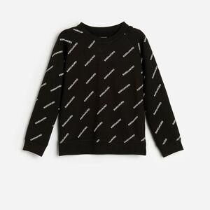 Reserved - Bavlnené tričko s dlhými rukávmi a nápismi -