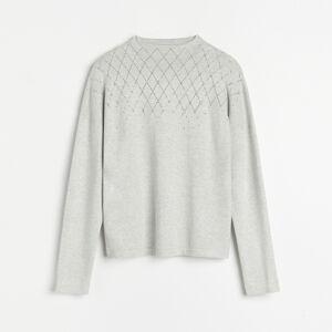 Reserved - Ladies` sweater - Svetlošedá