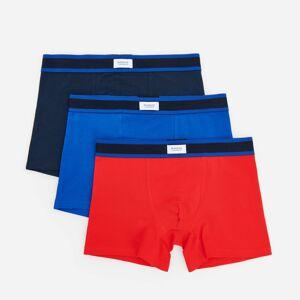Reserved - Súprava 3 boxeriek z organickej bavlny - Červená