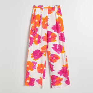 Reserved - Vzorované široké nohavice -