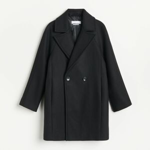 Reserved - Vlnený kabát - Čierna