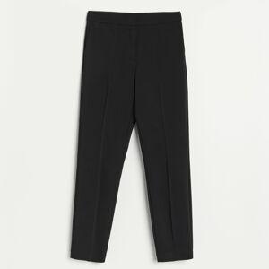 Reserved - Elegantné nohavice s vysokým strihom - Čierna