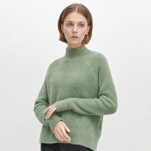 Reserved - Huňatý rolákový sveter - Zelená
