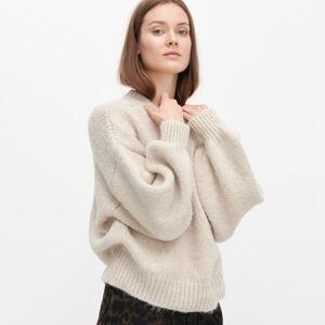 Reserved - Mäkký oversize sveter - Béžová