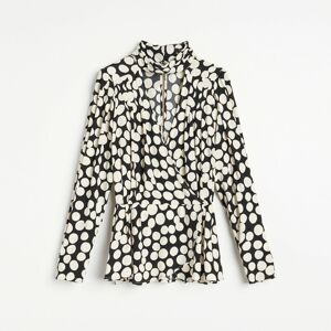Reserved - Vzorovaná košeľa z materiálu EcoVero™ - Viacfarebná