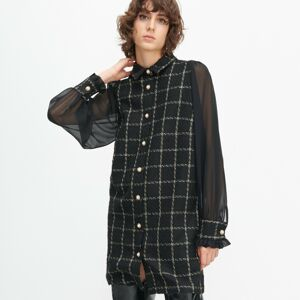 Reserved - Tvídové šaty - Čierna