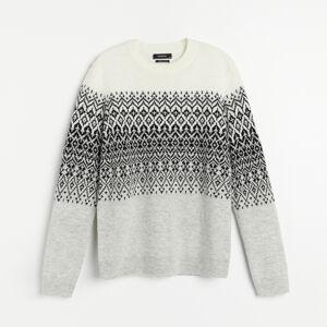 Reserved - Men`s sweater - Šedá