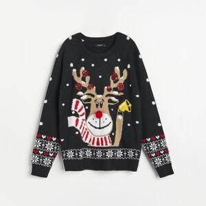 Reserved - Vianočný sveter - Čierna