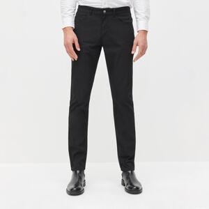 Reserved - Elegantné nohavice regular fit - Čierna