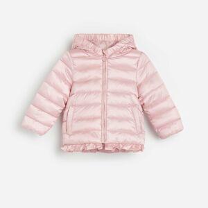 Reserved - Prešívaná bunda s volánom - Ružová