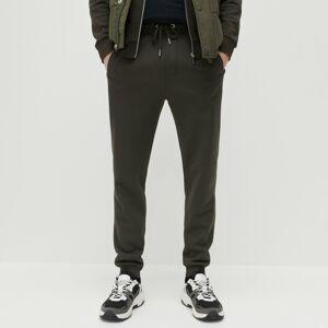 Reserved - Úpletové nohavice slim fit - Khaki