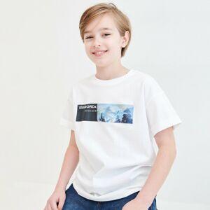Reserved - Bavlnené tričko s lentikulárnou aplikáciou - Biela