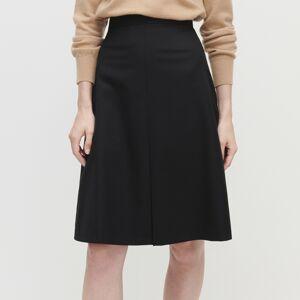 Reserved - Elegantná vlnená sukňa -