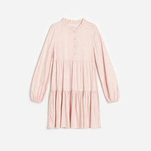 Reserved - Bodkované šaty - Ružová