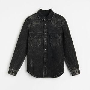 Reserved - Vyšúchaná džínsová košeľa -