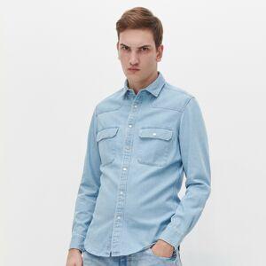 Reserved - džínsová košeľa regular fit - Modrá