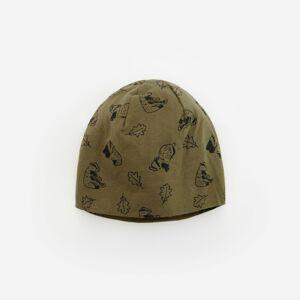 Reserved - Vzorovaná bavlnená čiapka beanie - Zelená