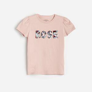 Reserved - Bavlnené tričko saplikáciou - Ružová