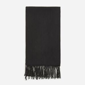 Reserved - Hladký šál so strapcami - Čierna