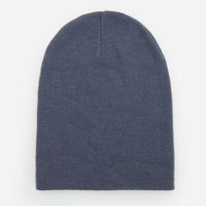 Reserved - Úpletová čiapka beanie - Modrá