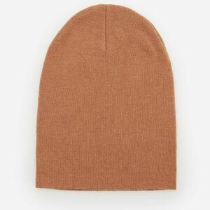 Reserved - Úpletová čiapka beanie - Béžová