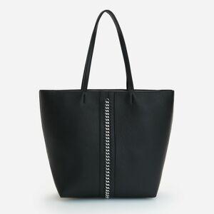 Reserved - Shopper taška s retiazkou - Čierna