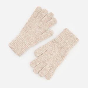 Reserved - Melanžové rukavice - Krémová