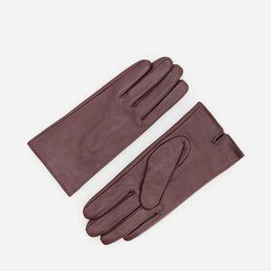 Reserved - Klasické kožené rukavice - Bordový