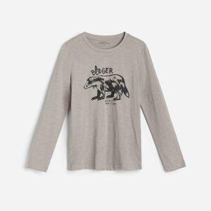 Reserved - Bavlnená košeľa s potlačou - Šedá