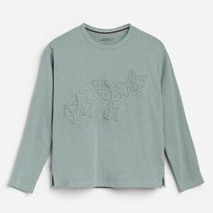 Reserved - Bavlnená košeľa s aplikáciou - Tyrkysová