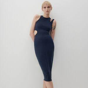 Reserved - Modalové šaty - Tmavomodrá