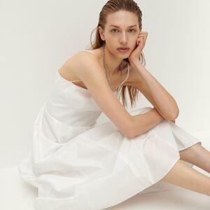 Reserved - Šaty na tenké ramienka - Krémová
