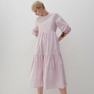 Reserved - Šaty s volánovým lemom - Ružová