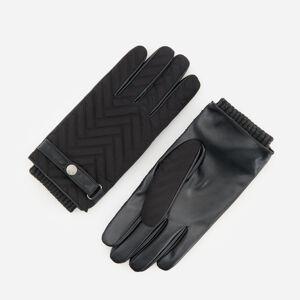 Reserved - Rukavice s ozdobným prešívaním - Čierna
