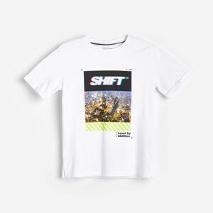Reserved - Bavlnené tričko spotlačou - Biela