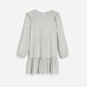 Reserved - Viskózové úpletové šaty - Svetlošedá