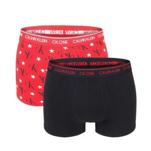 CALVIN KLEIN - 2PACK CK ONE fashion rustic red boxerky v darčekovom balení-XL (101-106 cm)