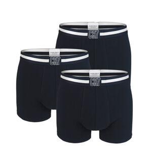 CRISTIANO RONALDO CR7 - 3PACK čierne boxerky s logom CR7 z organickej bavlny-L (86-92 cm)