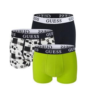 GUESS - 3PACK Guess logo cubes boxerky z organickej bavlny - limitovaná edícia-XL (91-95 cm)